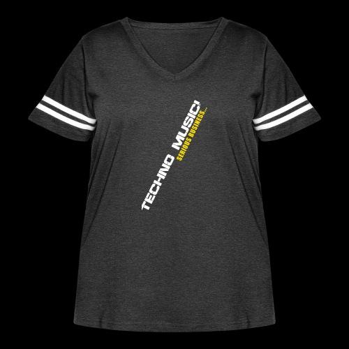 Techno Music - Women's Curvy Vintage Sport T-Shirt