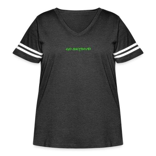 Go Skydive T-shirt/Book Skydive - Women's Curvy Vintage Sport T-Shirt