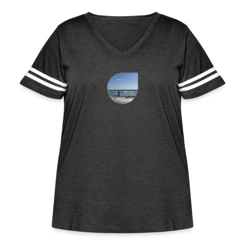 Floating sand - Women's Curvy Vintage Sport T-Shirt