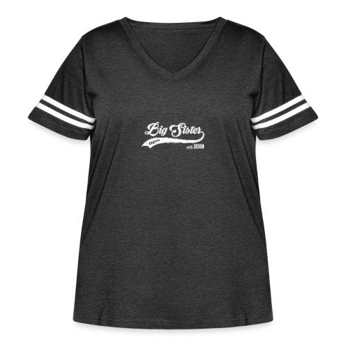 Big Sister again 2018 - Women's Curvy Vintage Sport T-Shirt