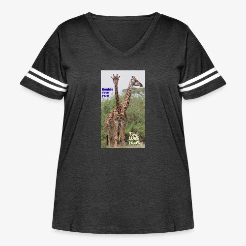 Two Headed Giraffe - Women's Curvy Vintage Sport T-Shirt