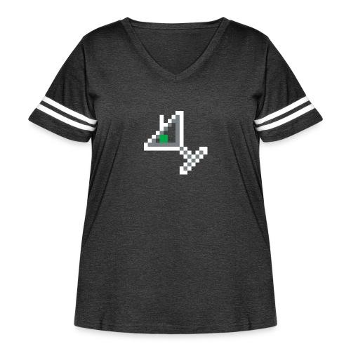 item martini - Women's Curvy Vintage Sport T-Shirt