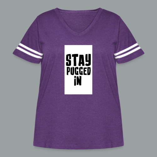 Stay Pugged In Clothing - Women's Curvy Vintage Sport T-Shirt