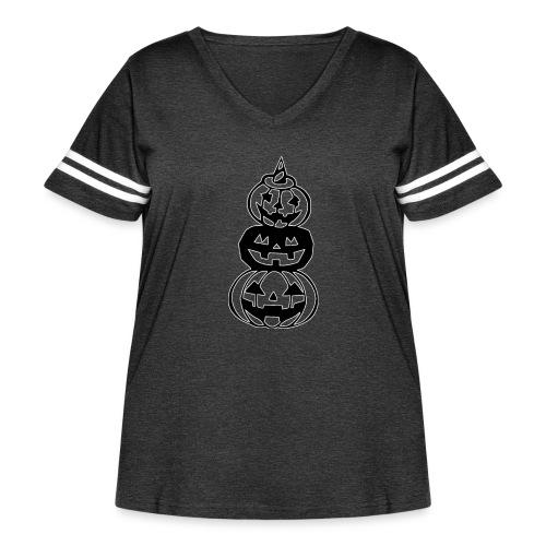 Pumpkins - Women's Curvy Vintage Sports T-Shirt