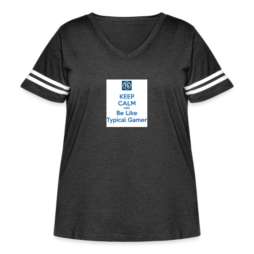 keep calm and be like typical gamer - Women's Curvy Vintage Sport T-Shirt