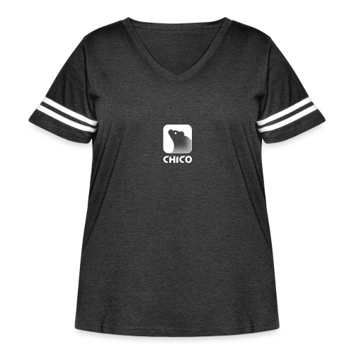Chico's Logo with Name - Women's Curvy Vintage Sport T-Shirt