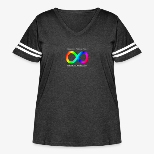 Embrace Neurodiversity - Women's Curvy Vintage Sport T-Shirt