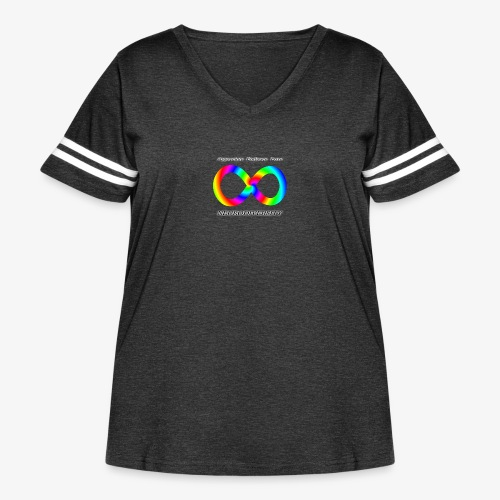 Embrace Neurodiversity with Swirl Rainbow - Women's Curvy Vintage Sport T-Shirt