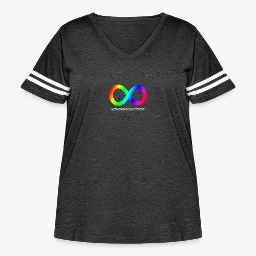 Neurodiversity - Women's Curvy Vintage Sport T-Shirt