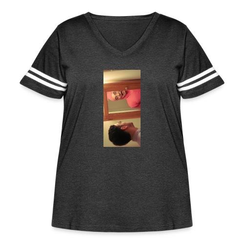 pinkiphone5 - Women's Curvy Vintage Sport T-Shirt