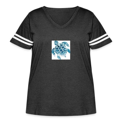 turtle - Women's Curvy Vintage Sport T-Shirt