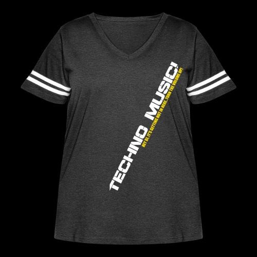 Techno Music.. Hey DJ.. - Women's Curvy Vintage Sport T-Shirt