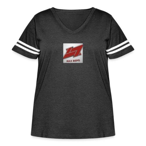 -8A64EFB9634F7332F6FB73085F72D6A399CBC81FB5C50A03C - Women's Curvy Vintage Sport T-Shirt