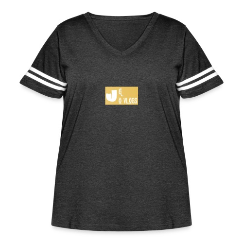 J & O Vlogs - Women's Curvy Vintage Sport T-Shirt