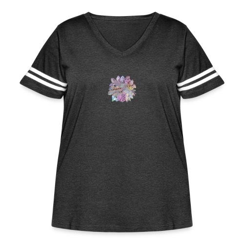 CrystalMerch - Women's Curvy Vintage Sport T-Shirt