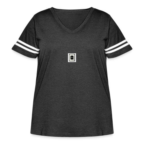 Dabbing pandas - Women's Curvy Vintage Sport T-Shirt