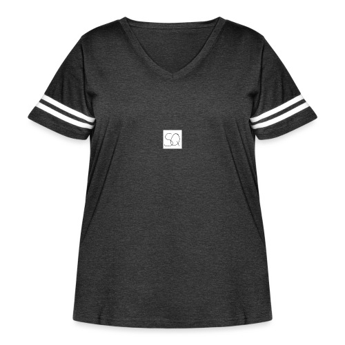 Smokey Quartz SQ T-shirt - Women's Curvy Vintage Sports T-Shirt