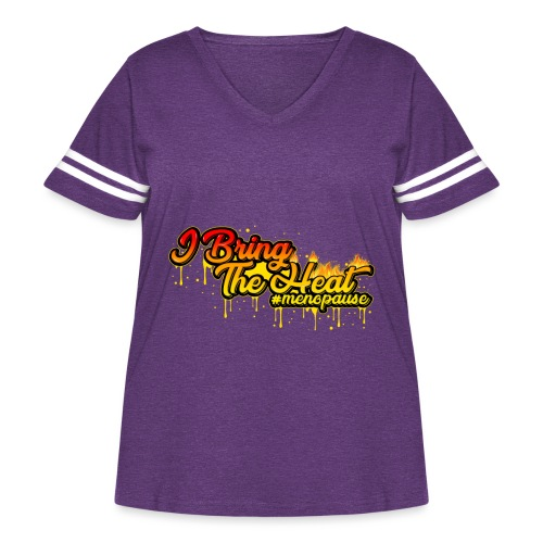I Bring The Heat - Women's Curvy Vintage Sport T-Shirt