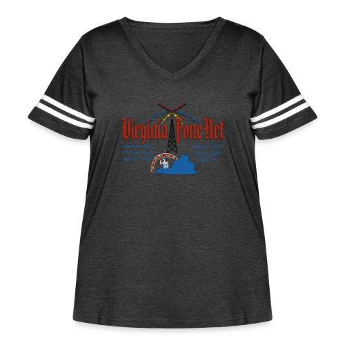 VFN 3947 Logo - Women's Curvy Vintage Sport T-Shirt