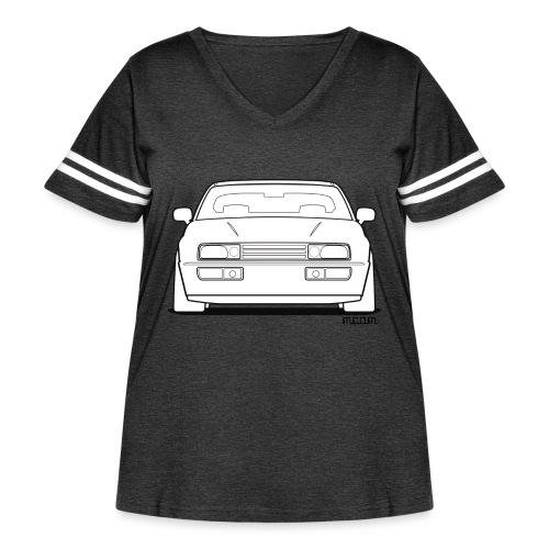 Wolfsburg Rado Outline - Women's Curvy Vintage Sport T-Shirt