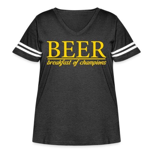 Beer Breakfast of Champions - Women's Curvy Vintage Sport T-Shirt