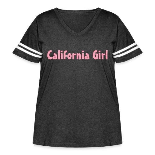 California Girl - Women's Curvy Vintage Sport T-Shirt