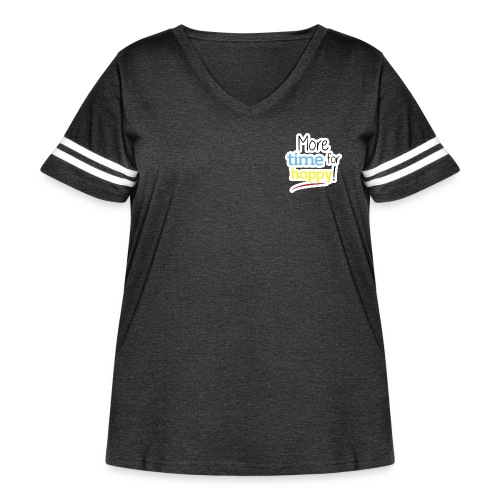 More Time for Happy! - Women's Curvy Vintage Sports T-Shirt
