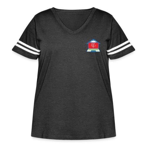 EP Logo Only - Women's Curvy Vintage Sports T-Shirt