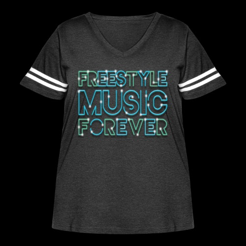 Freestyle Music Forever! - Women's Curvy Vintage Sport T-Shirt