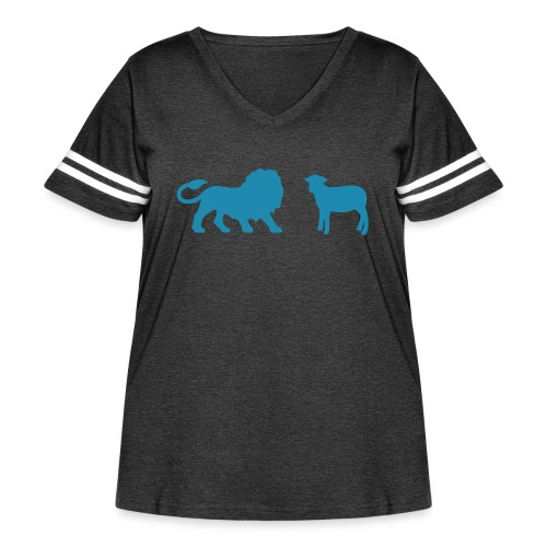 Lion and the Lamb - Women's Curvy Vintage Sport T-Shirt