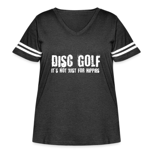 Disc Golf Not Just for Hippies Light - Women's Curvy Vintage Sport T-Shirt