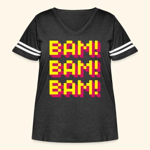 Bam! Bam! Bam! - Women's Curvy Vintage Sport T-Shirt