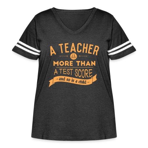 More Than a Test Score Women's T-Shirts - Women's Curvy Vintage Sport T-Shirt