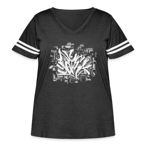 Kostya - NYG Design - REQUIRES WHITE SHIRT COLOR - Women's Curvy Vintage Sport T-Shirt