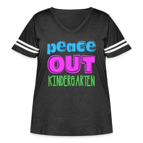 Kreative In Kinder Peace Out - Women's Curvy Vintage Sport T-Shirt