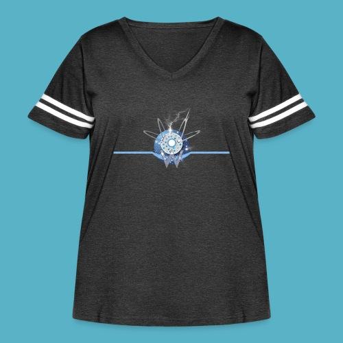 Blue Sun - Women's Curvy Vintage Sport T-Shirt