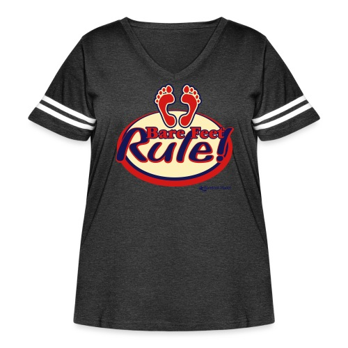 Bare Feet Rule! - Women's Curvy Vintage Sport T-Shirt