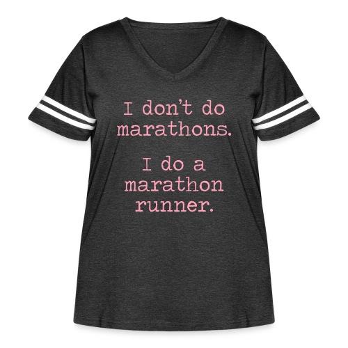 DONT DO MARATHONS - Women's Curvy Vintage Sport T-Shirt