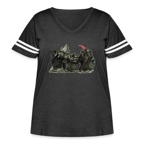Three Young Crows - Women's Curvy Vintage Sport T-Shirt