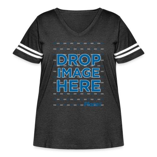 DROP IMAGE HERE - Placeit Design - Women's Curvy Vintage Sport T-Shirt