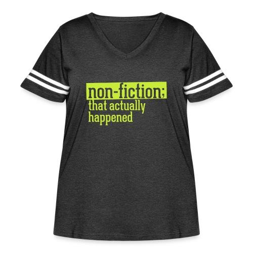 non fiction.png - Women's Curvy Vintage Sport T-Shirt