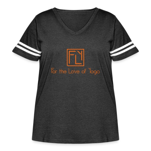 For the Love of Yoga - Women's Curvy Vintage Sport T-Shirt