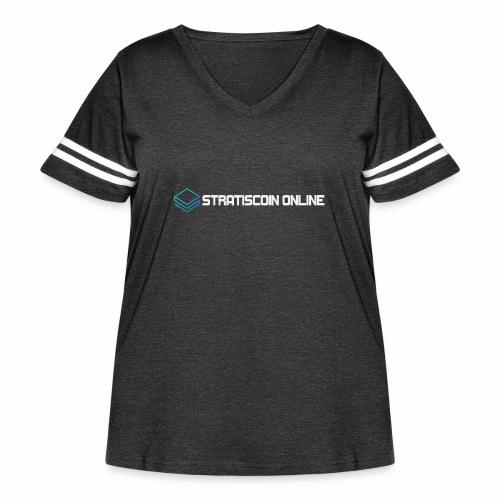 stratiscoin online light - Women's Curvy Vintage Sport T-Shirt