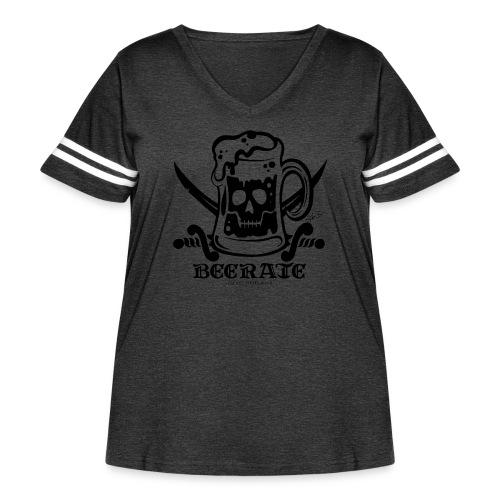 Beerate - black - Women's Curvy Vintage Sport T-Shirt