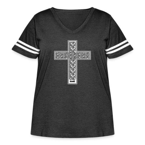 Jesus cross. I'm no longer a slave to fear. - Women's Curvy Vintage Sport T-Shirt
