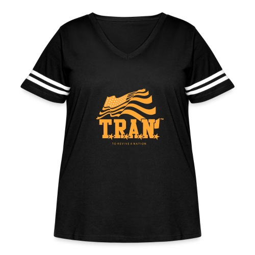 TRAN Gold Club - Women's Curvy Vintage Sport T-Shirt