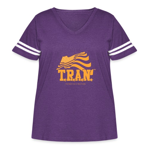 TRAN Gold Club - Women's Curvy Vintage Sport T-Shirt