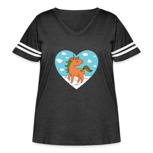 Unicorn Love - Women's Curvy Vintage Sport T-Shirt