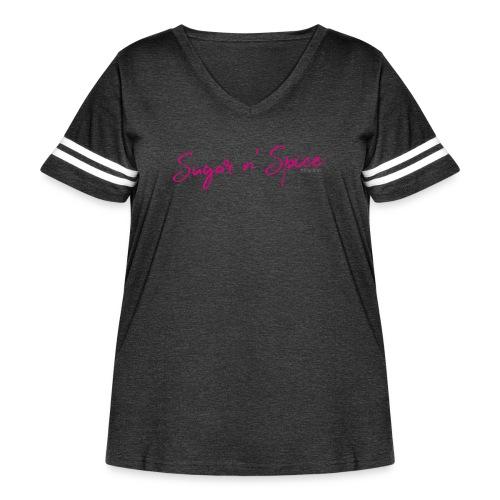 Kingsbrier Sugar n' Spice - Women's Curvy Vintage Sport T-Shirt