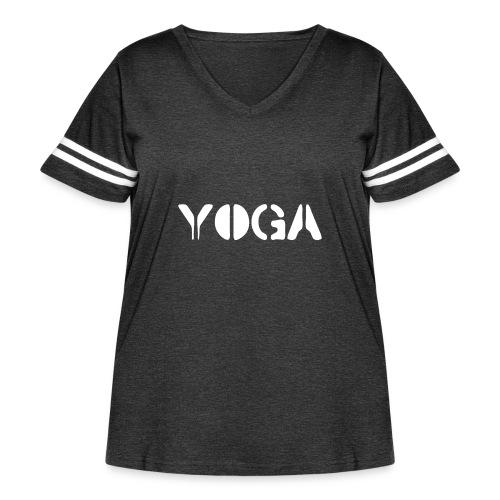 YOGA white - Women's Curvy Vintage Sport T-Shirt